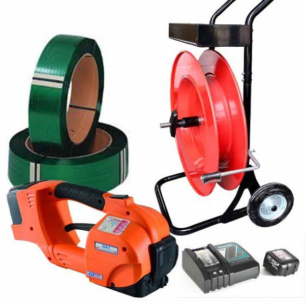 batterystrapping.com-pachet-legare-cu-banda-GT-ONE-10-16mm-carucior-banda-PET